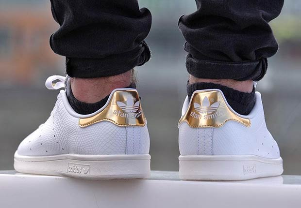 Gold Toe Adidas Stan Smiths Are Releasing Soon
