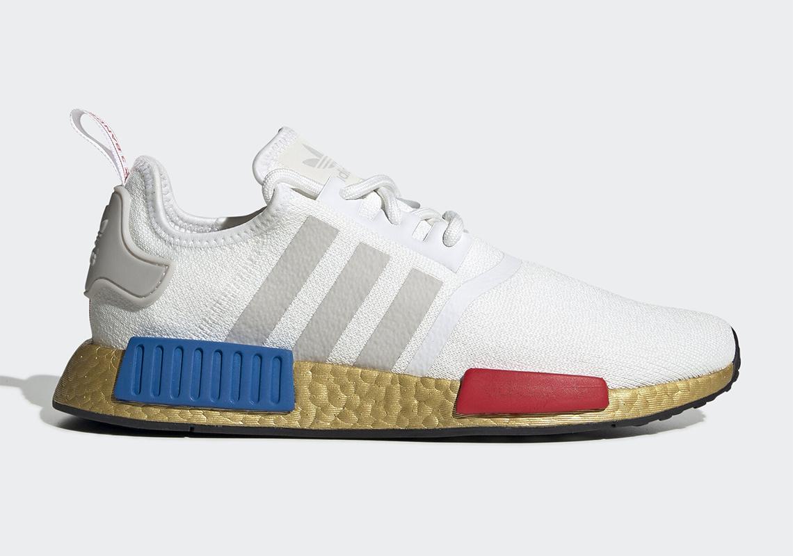 adidas nmd blanche bleu rouge