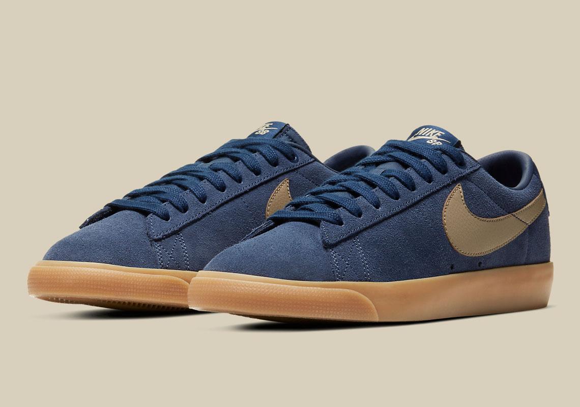 Nike SB Blazer Low GT Navy Gum 704939-403 - Crumpe