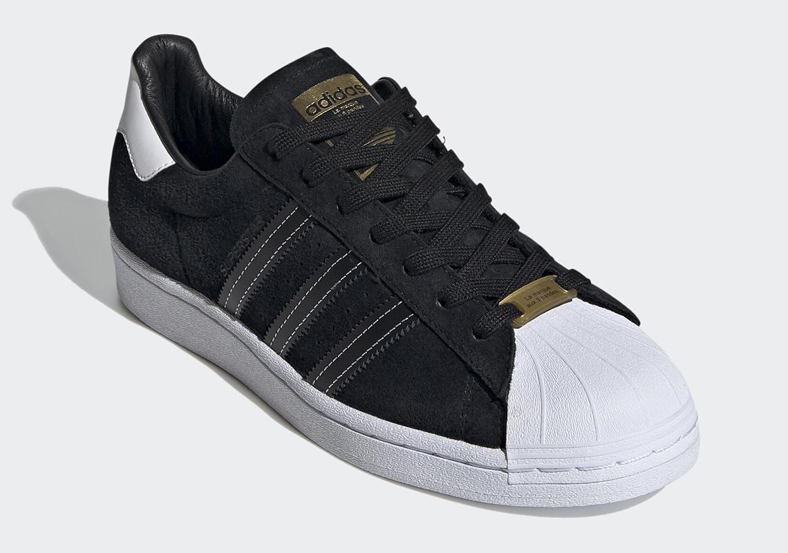 adidas Superstar Noir Suede Blanc EH1543 - Crumpe