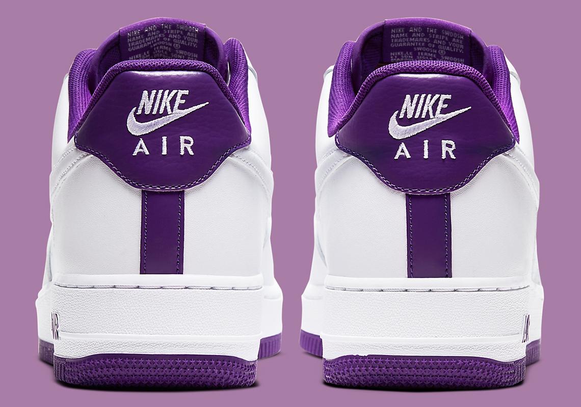 Nike Air Force 1 Low Blanc Violet CJ1380-100 - Crumpe