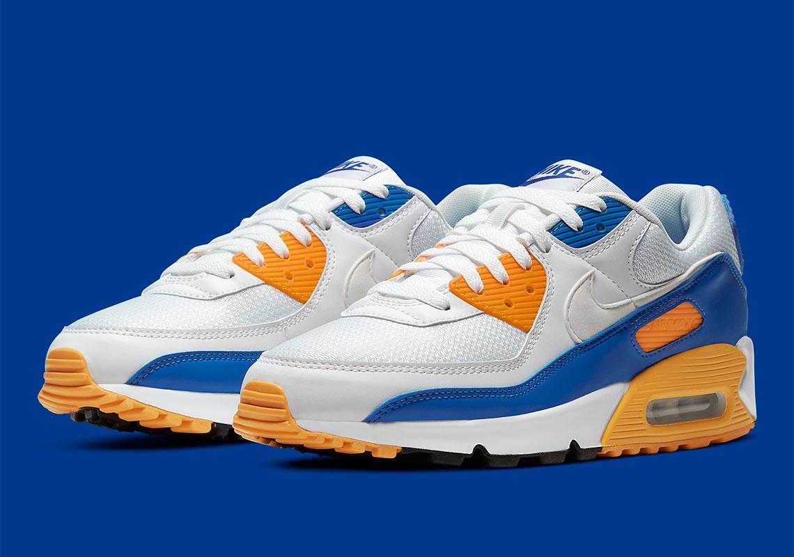 air max 90 bleu orange