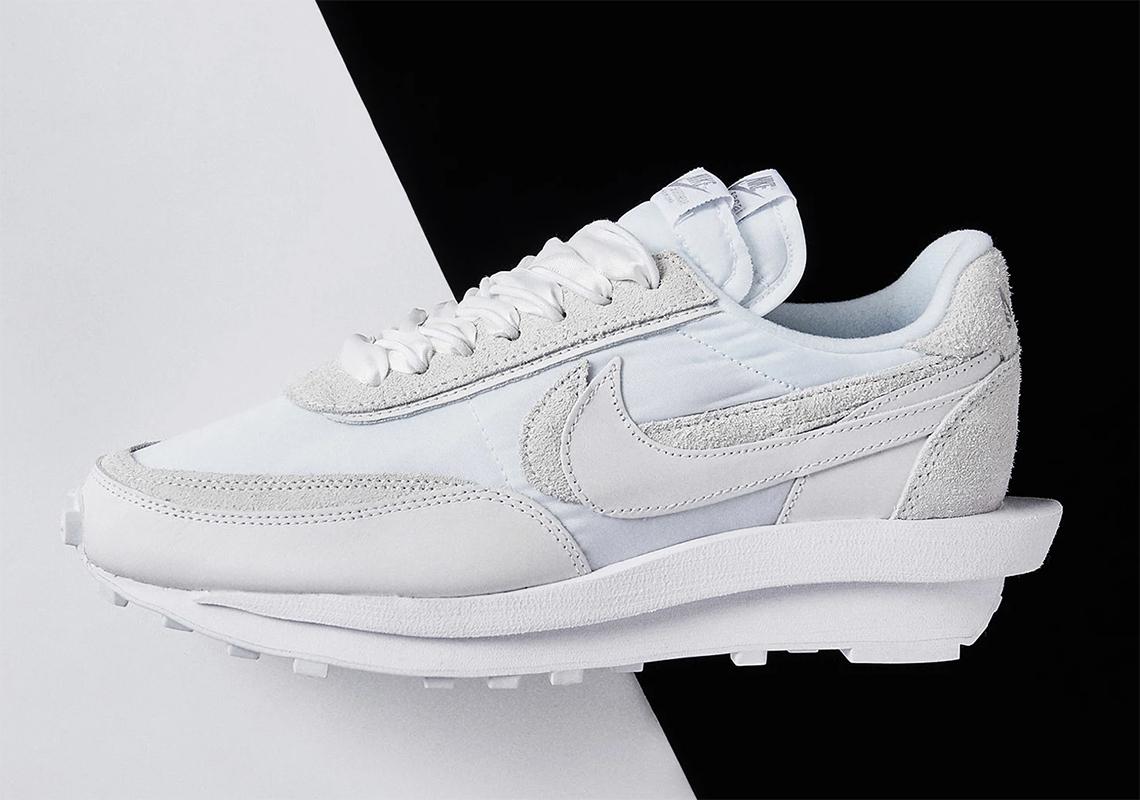 sacai Nike LDWaffle White Nylon BV0073 101 Liste des