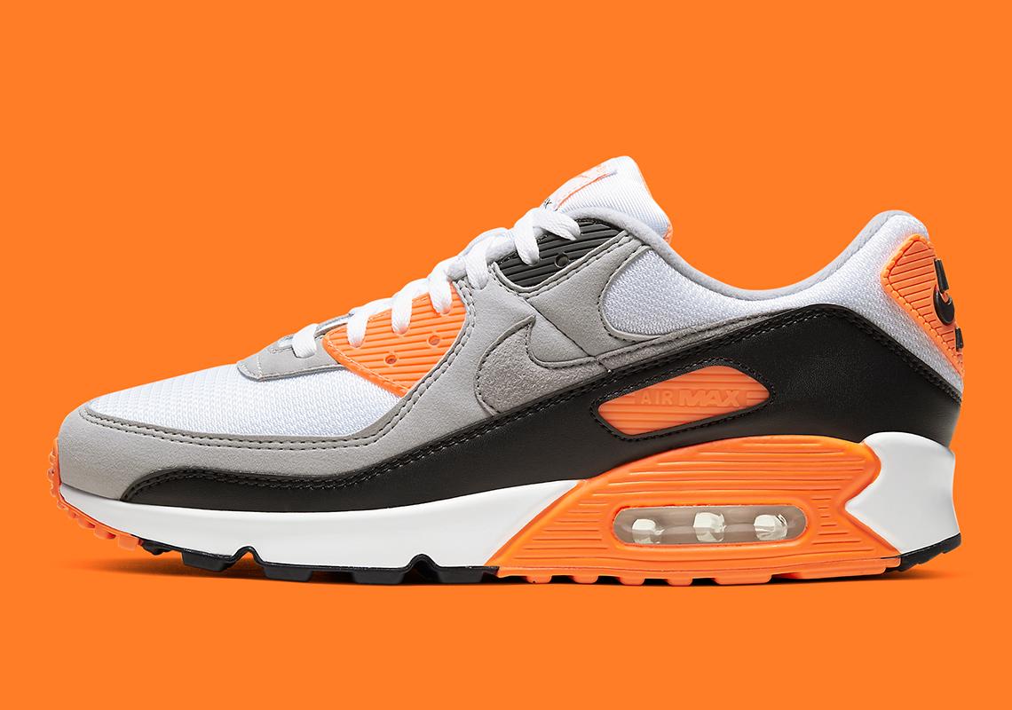 Nike Air Max 90 Orange Blanche Noir CW5458-101 - Crumpe