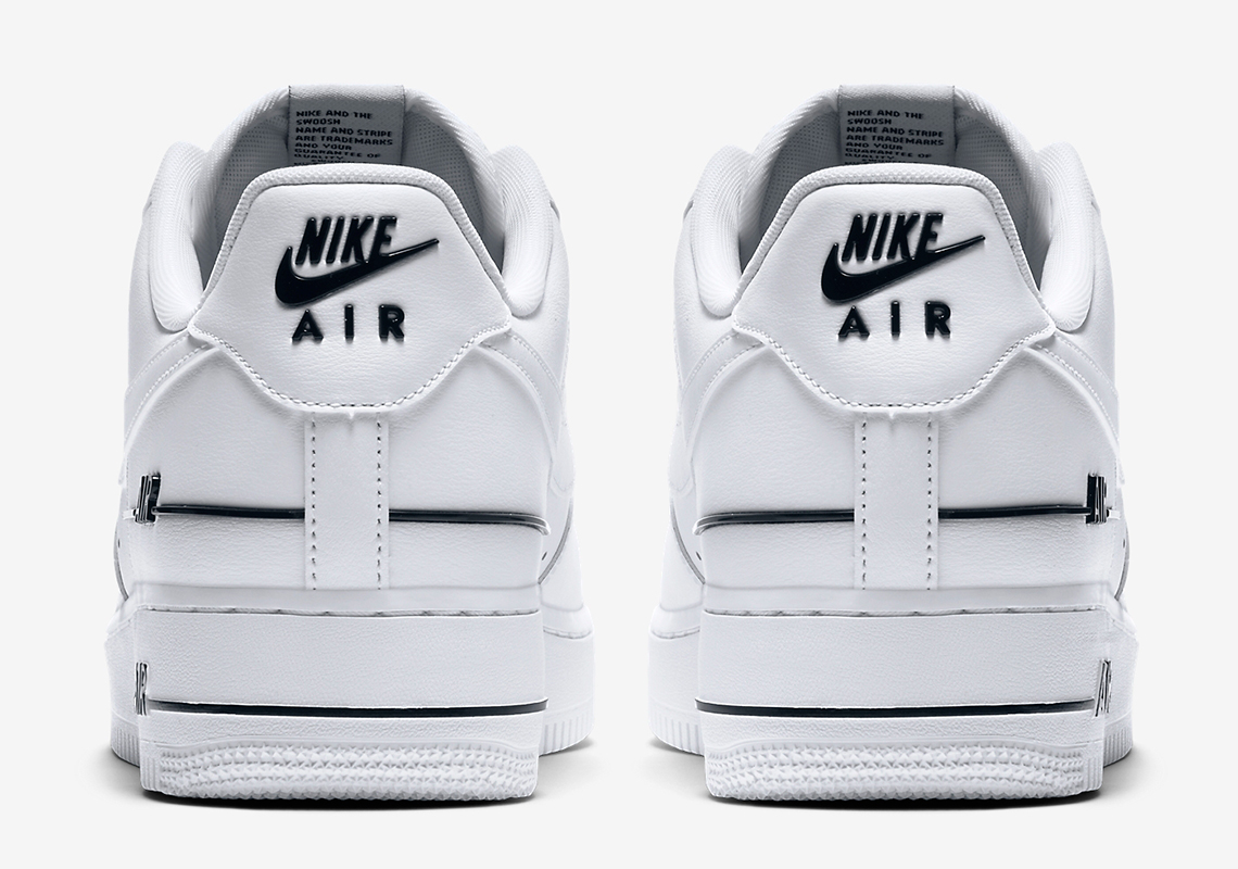 Nike Air Force 1 Blanc Noir Ajouté Air CJ1379 100 Crumpe