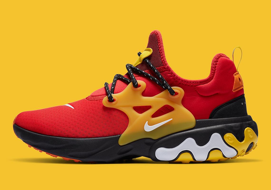 Nike React Presto Rouge Jaune CZ9273-600-1 - Crumpe