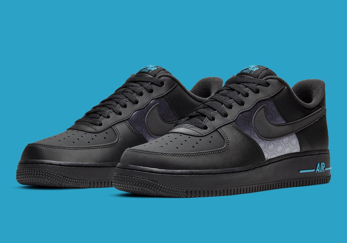 Nike Air Force 1 Low Noir Laser Bleu DH2475-001 - Crumpe