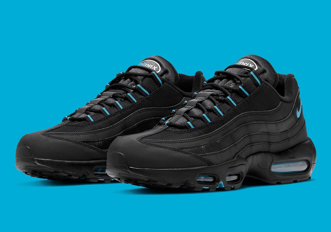 Nike Air Max 95 Noir Laser Bleu DC4115-001 - Crumpe