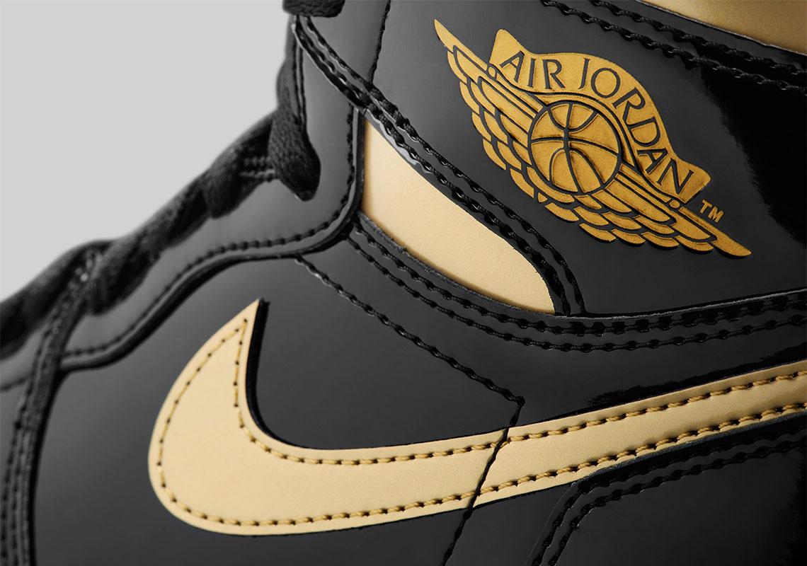 Air Jordan 1 High Noir Or 555088-032 - Crumpe