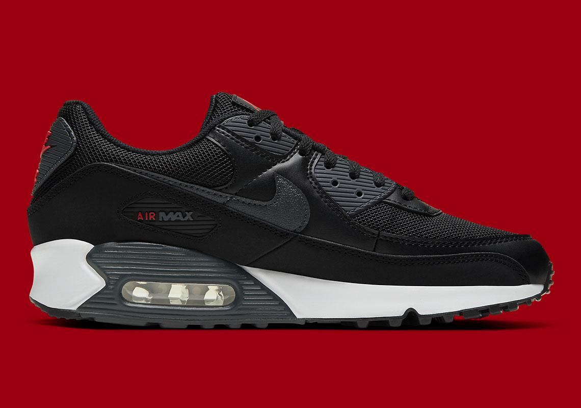 Nike Air Max 90 DH4095-001 Noir Université Rouge   SneakerNews.com ...