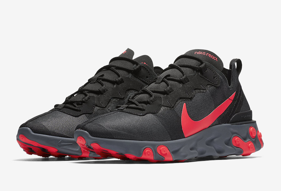 Nike React Element 55 'Black/Solar Red