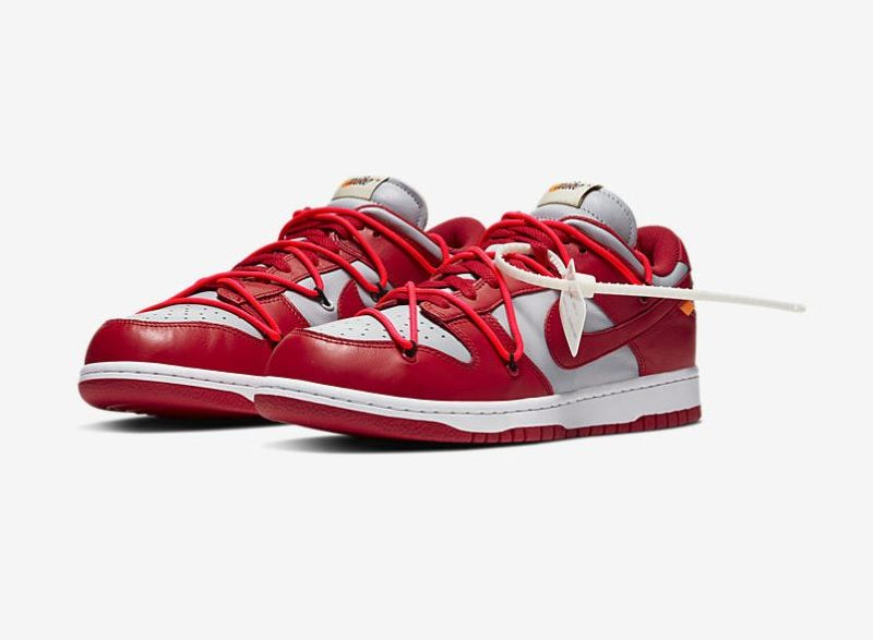 Off-White x Nike Dunk Low University Red