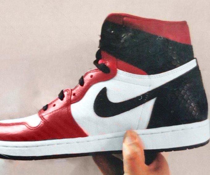 Air Jordan 1 High Satin Snakeskin