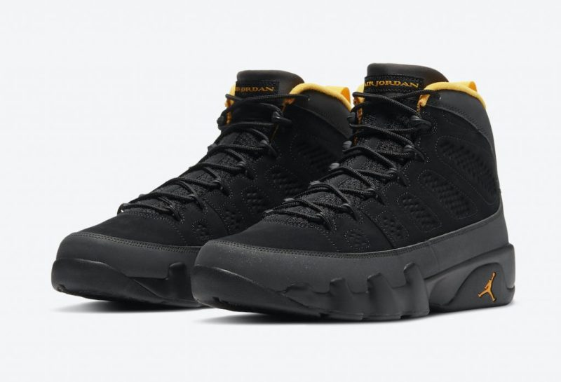 Air Jordan 9 Black/University Gold