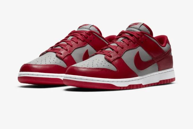 Nike Dunk Low Medium Grey/Varsity Red