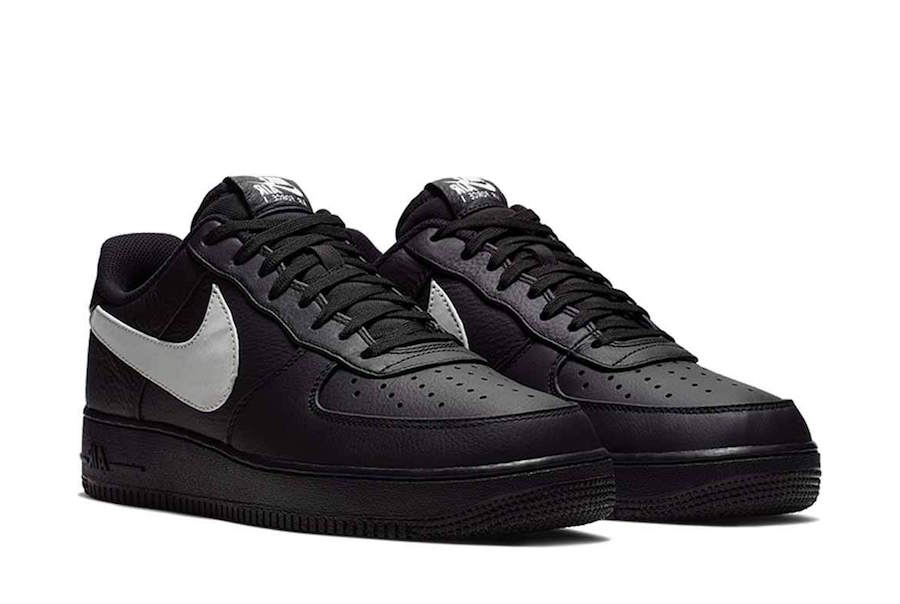 Black Air Force 1 Premium 2 also has enlarged Swooshes