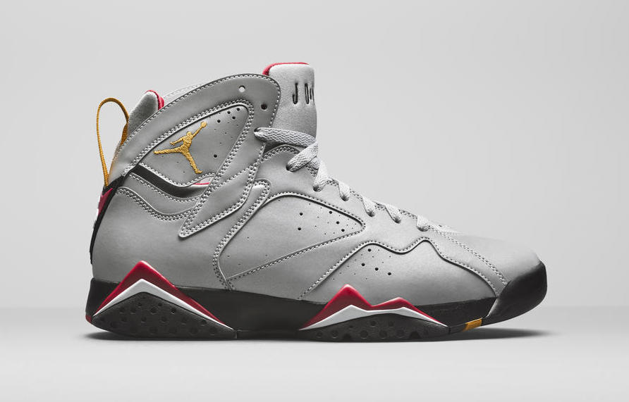 "4b4c9488b098 First Look at the ""Reflective Cardinal"" Air Jordan 7"