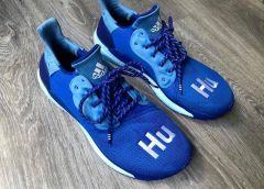 Blue Pharrell Williams x Adidas Solar Glide HU emerges