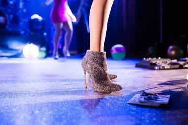 heels made of glitter