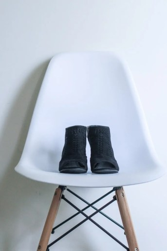 shoes on a chair