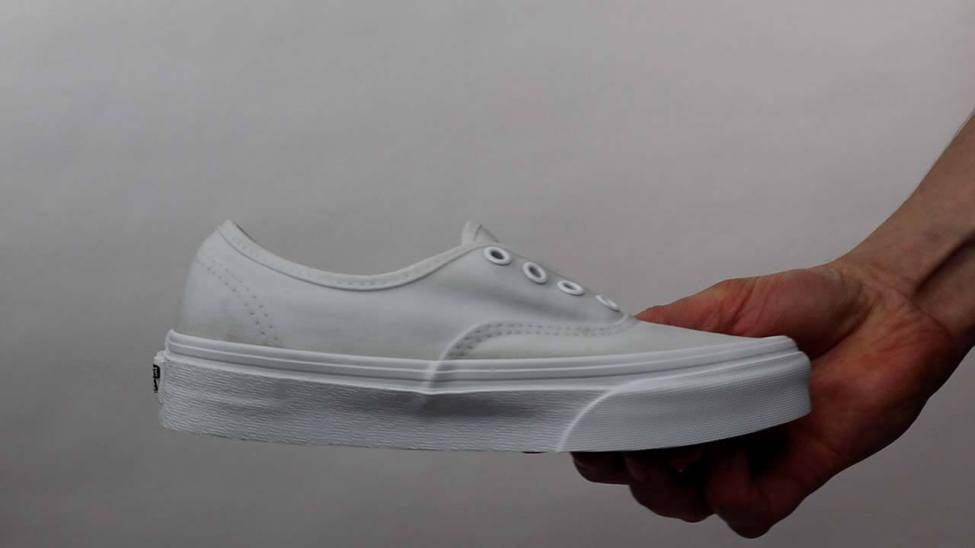 Pair of White Vans after cleaning process