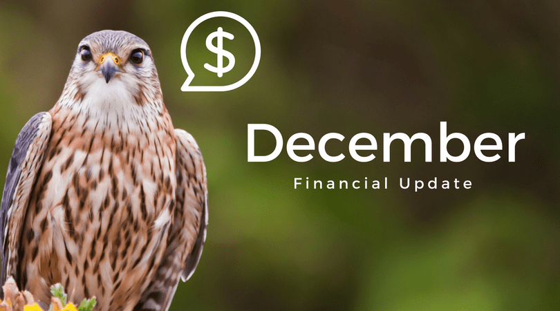 Back in Black – December 2017 Financial Update