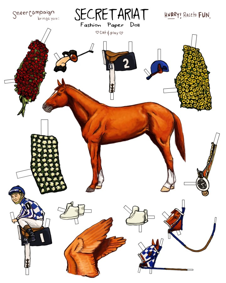 Secretariat Paper Doll Fun Zone