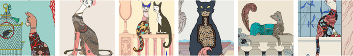 Art Deco Cat Collection