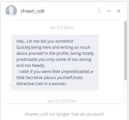OKCupid Message