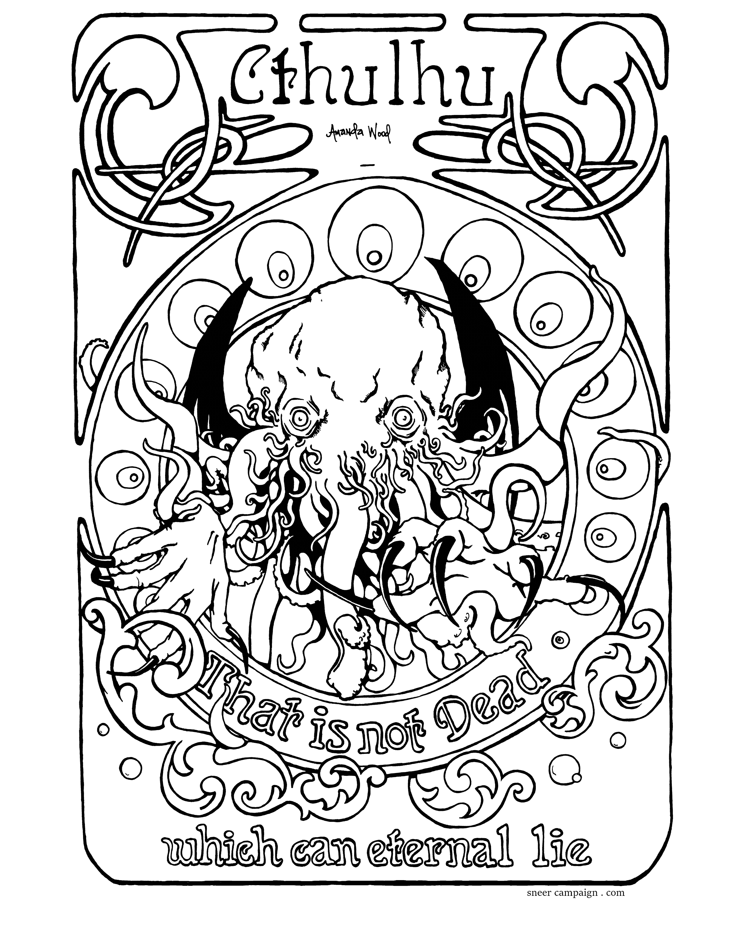 Is For Cthulhu Coloring Book