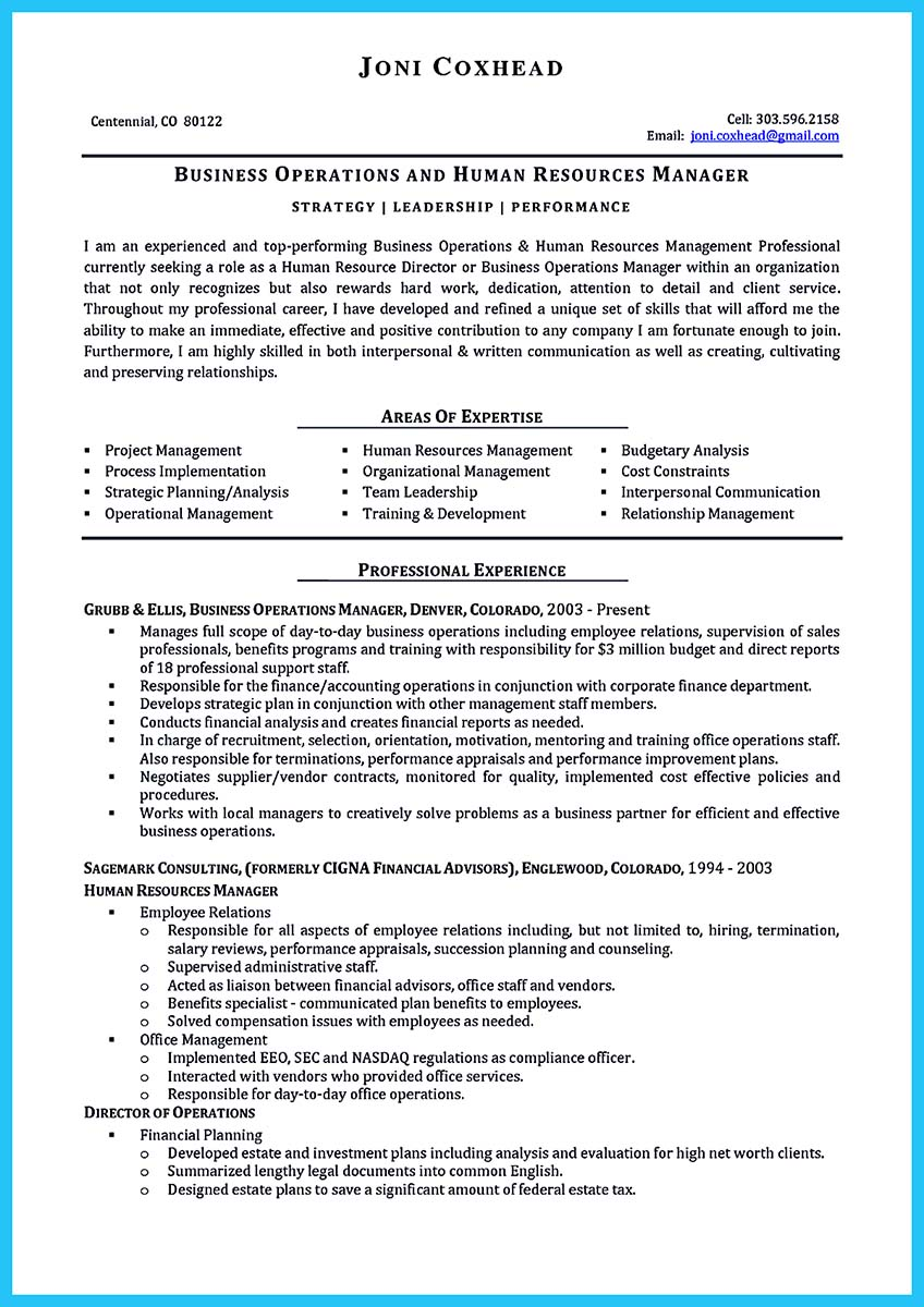 Make The Most Magnificent Business Manager Resume For Brighter Future
