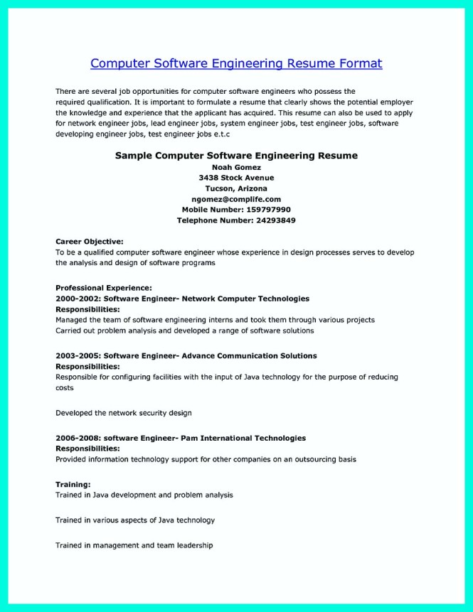 Stunning Software Engineer Job Description Contemporary  Best