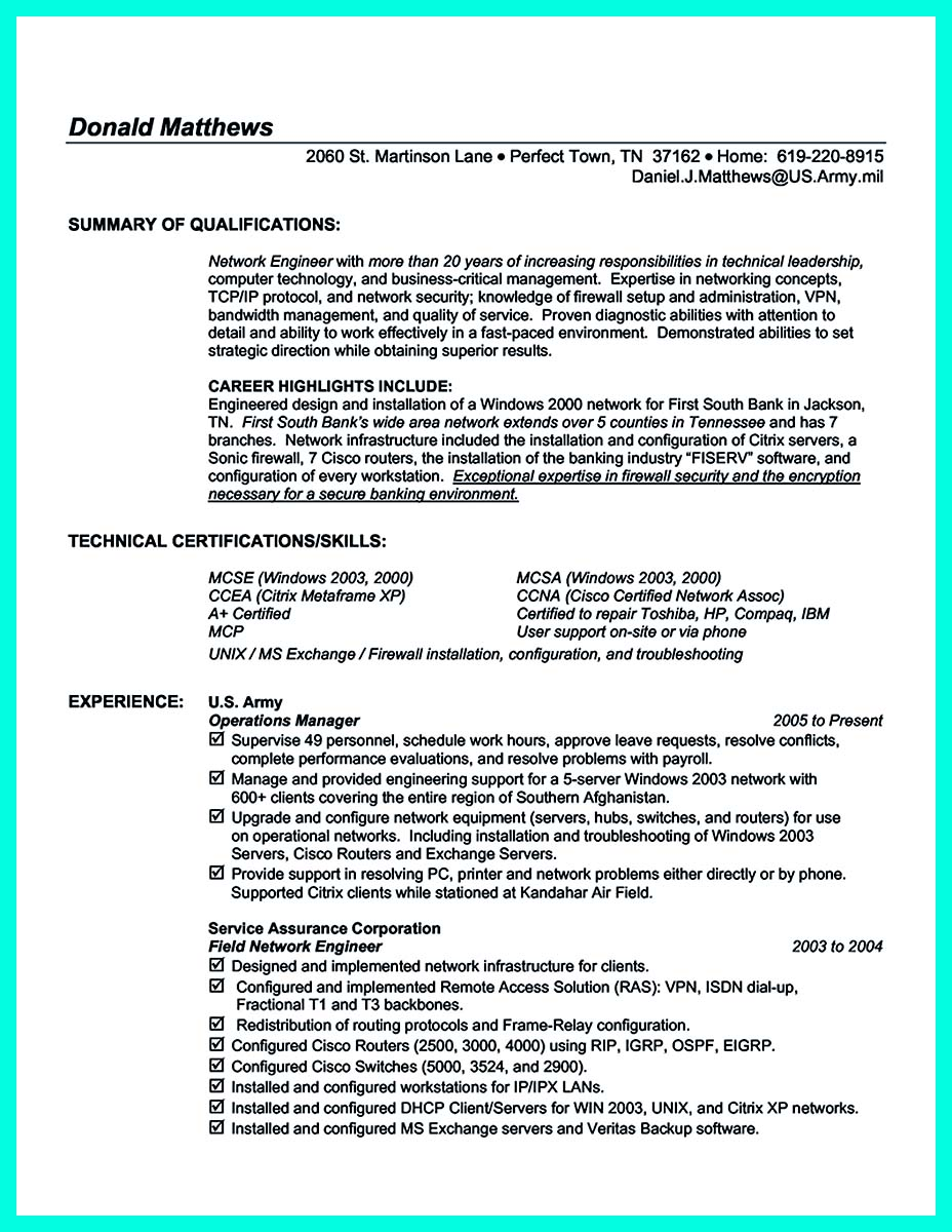 The Perfect Computer Engineering Resume Sample To Get Job Soon