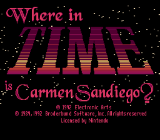 Where in Time is Carmen Sandiego 01