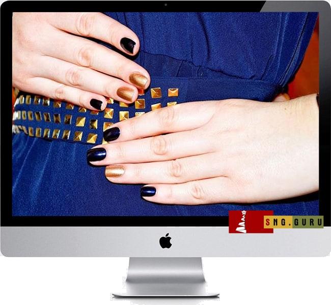 Маникюр на ногти на Новый год