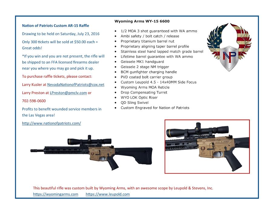 Nation of Patriots Rifle – Get your Raffle Tickets Today
