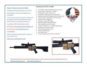 2016 NOP Rifle Raffle