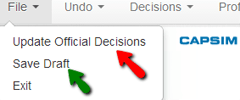 update official decisions