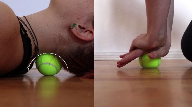 теннисный мяч для спины