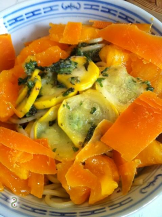 Linguine with tomatoes and zucchini sauce,, mimolette http://wp.me/p389oa-db