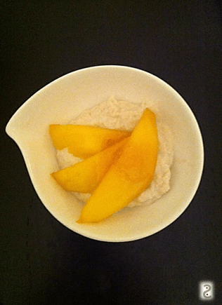 Raw Cashew Cream, ginger honey and mango http://wp.me/p3iY4S-wH