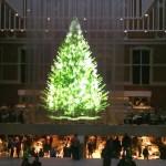 Geprojecteerde kerstboom in het Rijksmuseum