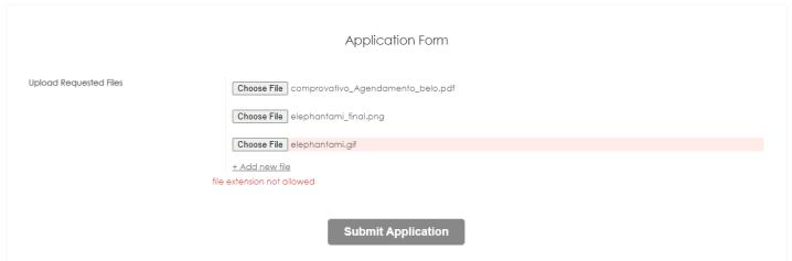 form validation label working