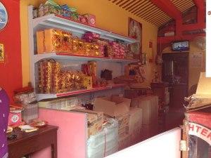 Temple-selling joss sticks & paper money for offerings