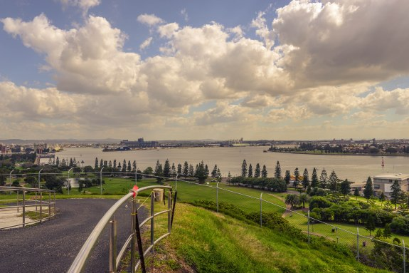 View from the top of Fort Scratchley