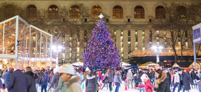 Christmas Tree in Bryant Park