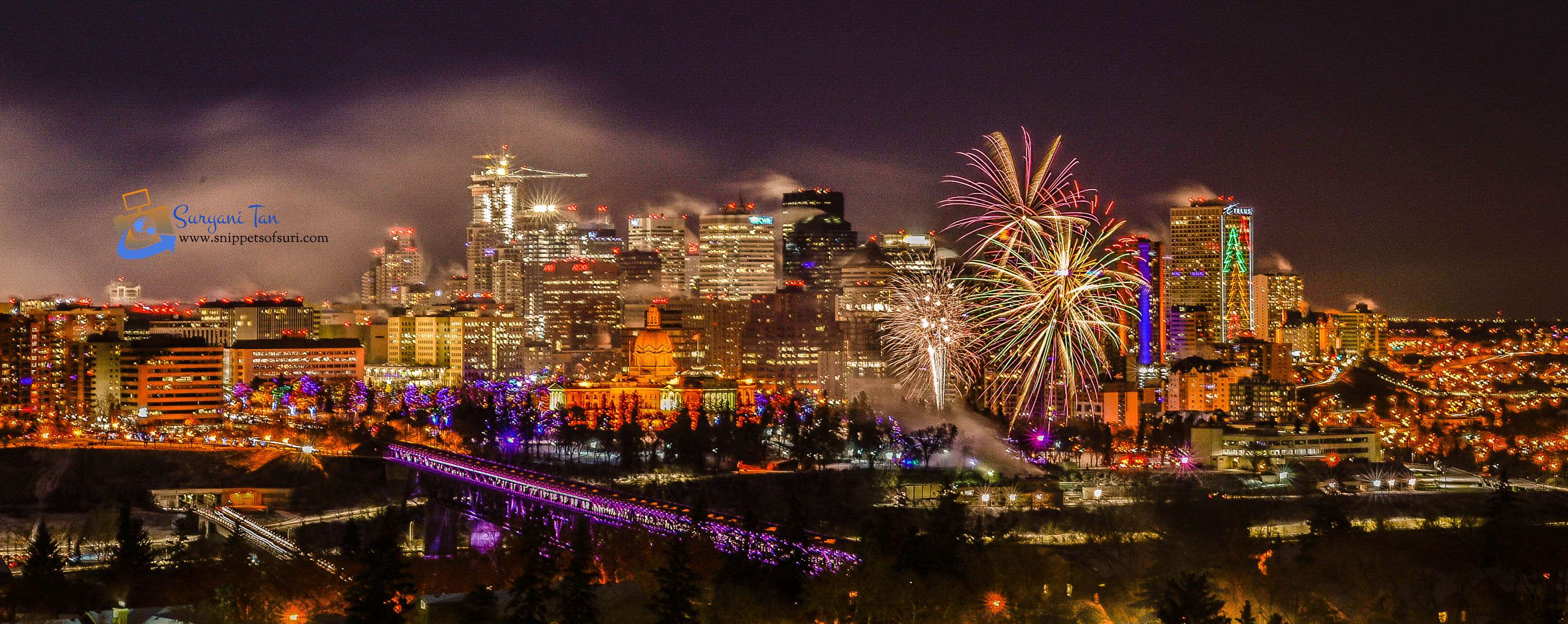 NYE Fireworks_Edmonton_Canada_2