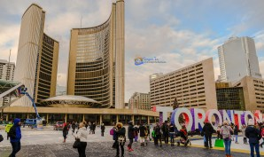 Nathan Phillips Square, City Hall in the background