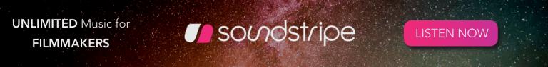 Soundstripe Horizontal Banner Ad