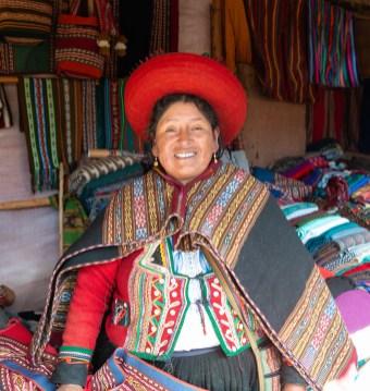 Weaving Demonstration Chinchero Sacred Valley Peru